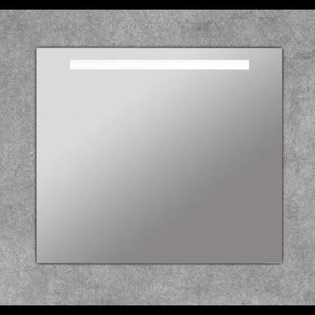 Espejo de baño cuadrado con franja luz led Portia