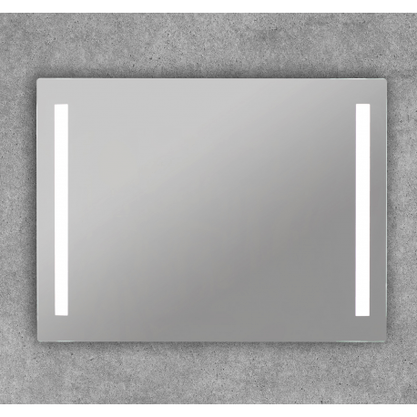 Espejo luz baño con doble tira led cuadrado Norma