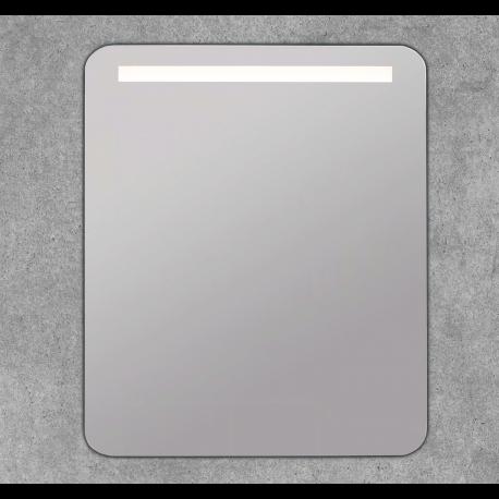Espejo baño luz cuadrado con bordes redondeados Sirio