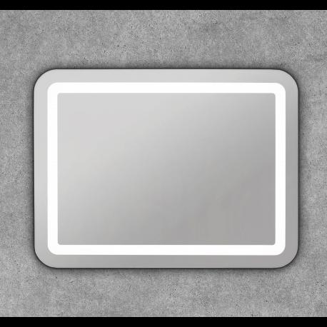 Espejo baño con iluminación led cuadrado con esquinas redondas Ersa