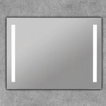 Espejo luz baño con doble tira led cuadrado -  Norma Basic