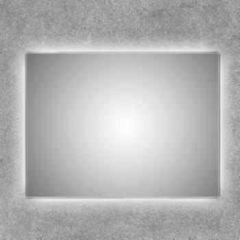 Espejo con luz led retroiluminado para el baño cuadrado Ceres