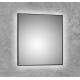 Espejo de baño luz led con tira marco aluminio negro mate cuadradado Adhara