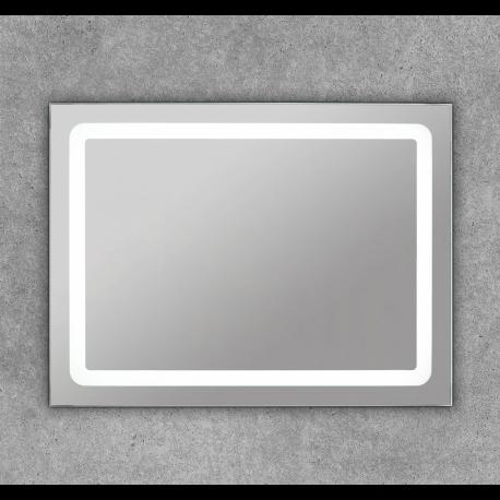 Espejo luz led frontal para baño cuadrado Polux