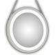 Espejo redondo con luz led con marco lacado en blanco Enea Blanco