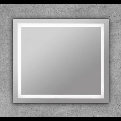 Espejo cuadrado con luz led frontal de baño  Dione