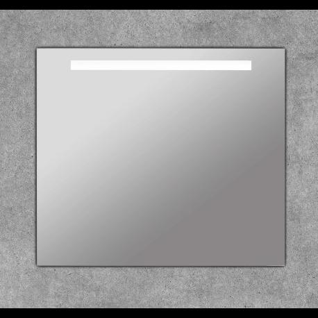 Espejo de baño cuadrado con franja luz led - Portia Basic